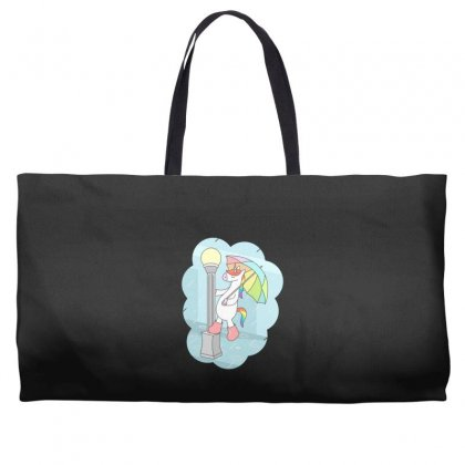 Unicorn Singin In The Rain Weekender Totes Designed By Andr1