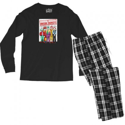 Unusual Suspects Men's Long Sleeve Pajama Set Designed By Andr1