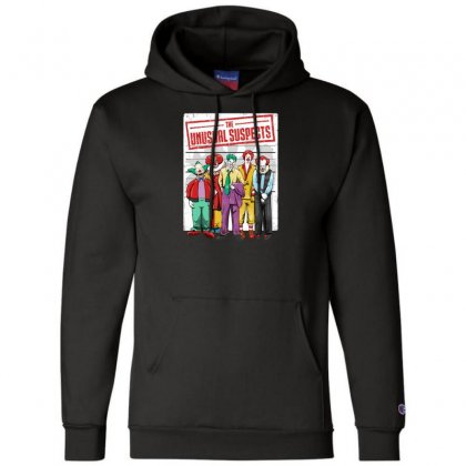 Unusual Suspects Champion Hoodie Designed By Andr1