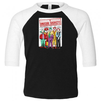 Unusual Suspects Toddler 3/4 Sleeve Tee Designed By Andr1
