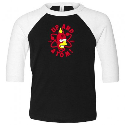 Up And Atom Toddler 3/4 Sleeve Tee Designed By Andr1