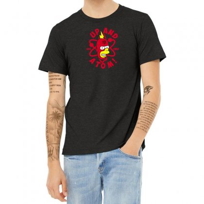 Up And Atom Heather T-shirt Designed By Andr1