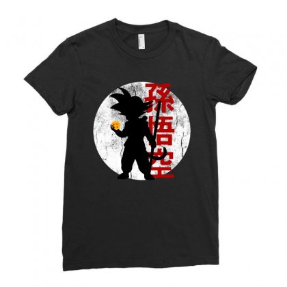 Goku   Dragon Ball Z Ladies Fitted T-shirt Designed By Pinkanzee