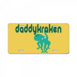 daddy kraken License Plate | Artistshot