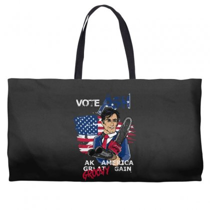 Vote Ash Weekender Totes Designed By Andr1