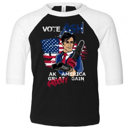 Vote Ash Toddler 3/4 Sleeve Tee Designed By Andr1