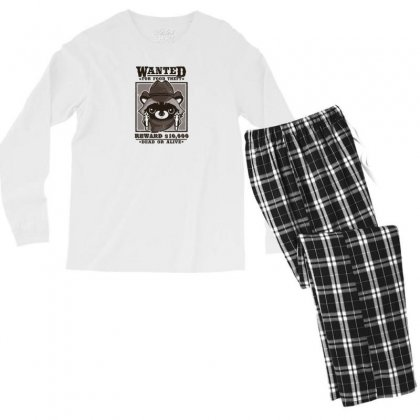 Wanted Racoon Men's Long Sleeve Pajama Set Designed By Andr1