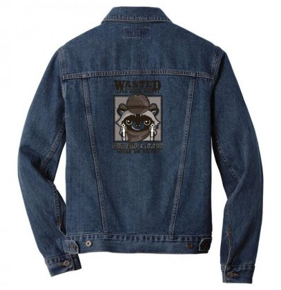 Wanted Racoon Men Denim Jacket Designed By Andr1