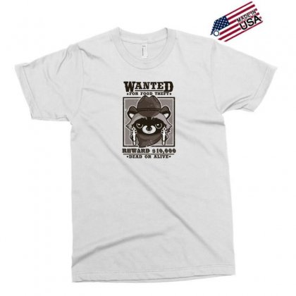 Wanted Racoon Exclusive T-shirt Designed By Andr1