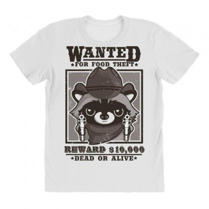 Wanted Racoon All Over Women's T-shirt Designed By Andr1