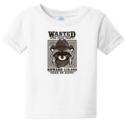 Wanted Racoon Baby Tee Designed By Andr1
