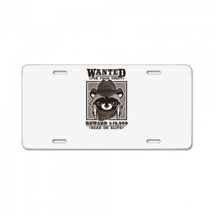 Wanted Racoon License Plate Designed By Andr1