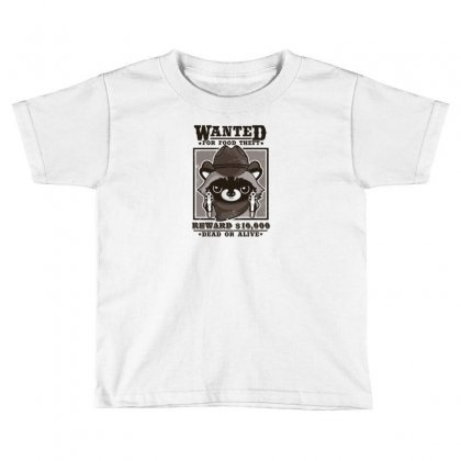 Wanted Racoon Toddler T-shirt Designed By Andr1