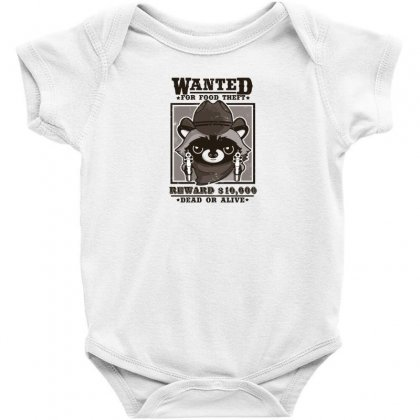 Wanted Racoon Baby Bodysuit Designed By Andr1