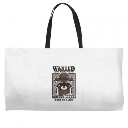Wanted Racoon Weekender Totes Designed By Andr1