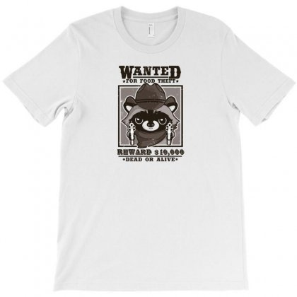 Wanted Racoon T-shirt Designed By Andr1