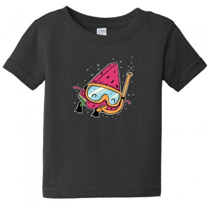 Watermelon Baby Tee Designed By Andr1