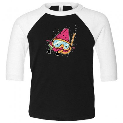 Watermelon Toddler 3/4 Sleeve Tee Designed By Andr1