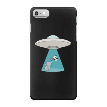 Weird Ufo Panda Bear Abduction Iphone 7 Case Designed By Andr1