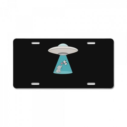 Weird Ufo Panda Bear Abduction License Plate Designed By Andr1