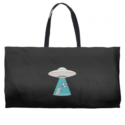Weird Ufo Panda Bear Abduction Weekender Totes Designed By Andr1