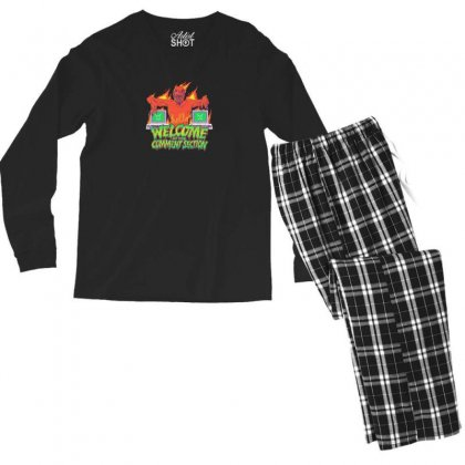 Welcome To The Comment Section Men's Long Sleeve Pajama Set Designed By Andr1