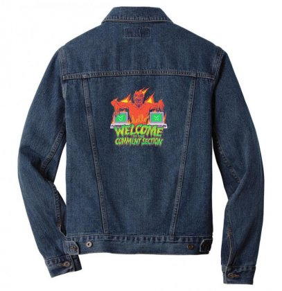 Welcome To The Comment Section Men Denim Jacket Designed By Andr1