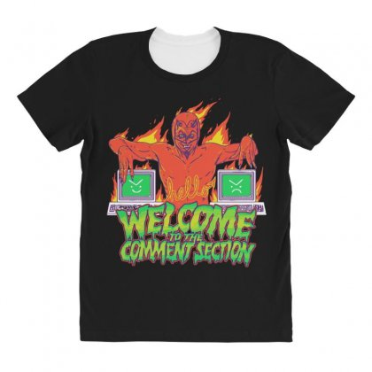 Welcome To The Comment Section All Over Women's T-shirt Designed By Andr1