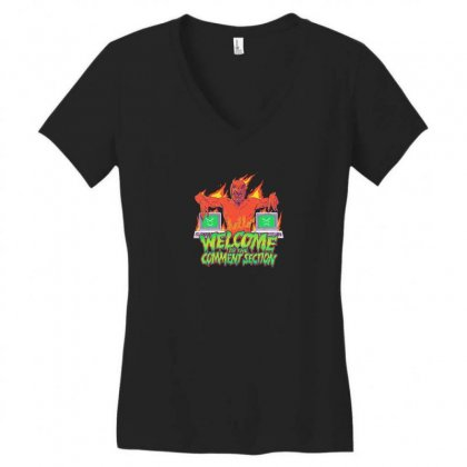 Welcome To The Comment Section Women's V-neck T-shirt Designed By Andr1