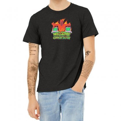 Welcome To The Comment Section Heather T-shirt Designed By Andr1