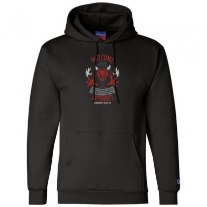 Welcome To The Interne Champion Hoodie Designed By Andr1