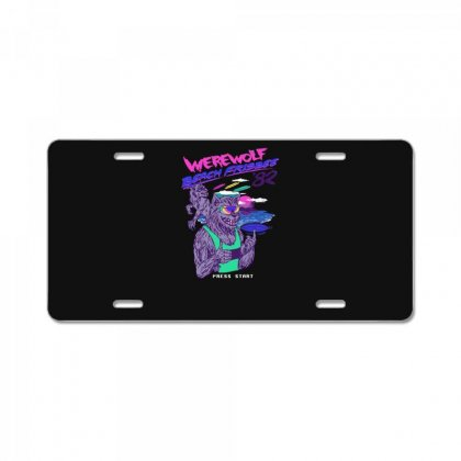 Werewolf Beach Frisbee License Plate Designed By Andr1