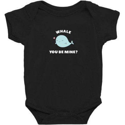 Whale You Be Mine Kawaii Pun Baby Bodysuit Designed By Andr1