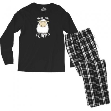 What The Fluff Men's Long Sleeve Pajama Set Designed By Andr1
