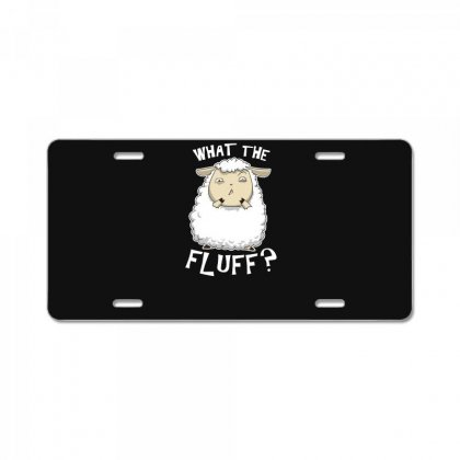 What The Fluff License Plate Designed By Andr1