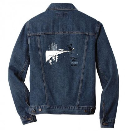 Where The Town Ends Men Denim Jacket Designed By Andr1