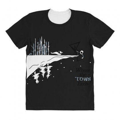 Where The Town Ends All Over Women's T-shirt Designed By Andr1