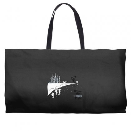 Where The Town Ends Weekender Totes Designed By Andr1