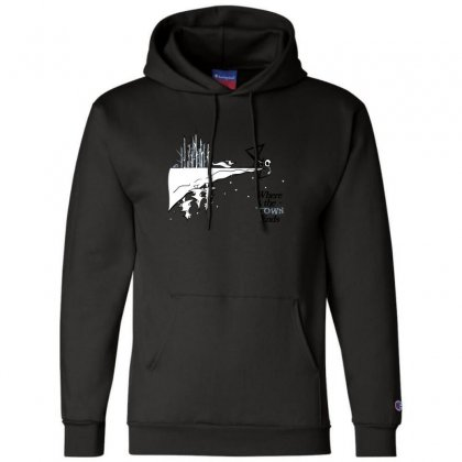 Where The Town Ends Champion Hoodie Designed By Andr1
