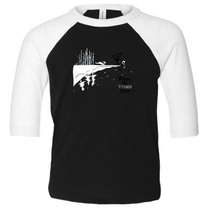 Where The Town Ends Toddler 3/4 Sleeve Tee Designed By Andr1