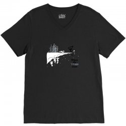 where the town ends V-Neck Tee | Artistshot