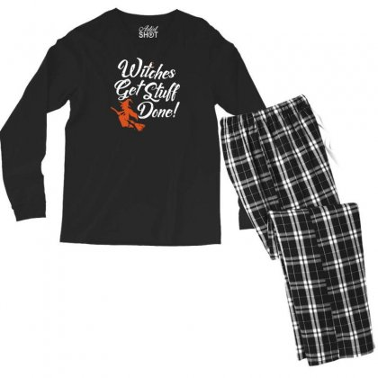 Witches Get Stuff Done Men's Long Sleeve Pajama Set Designed By Andr1