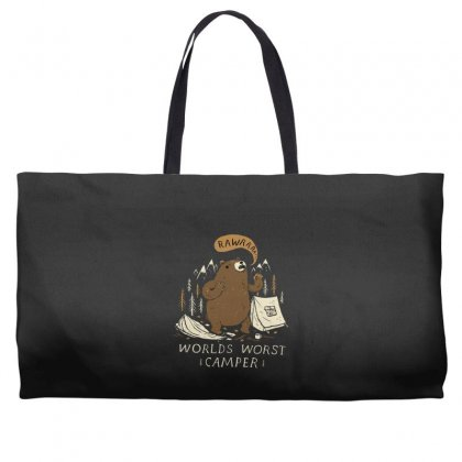 Worlds Worst Camper Weekender Totes Designed By Andr1