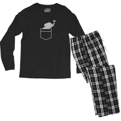Wow An Elephant In My Pocket Men's Long Sleeve Pajama Set Designed By Andr1