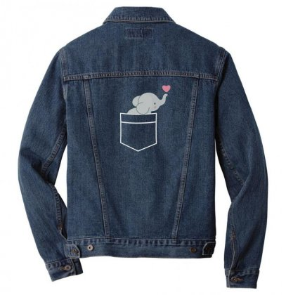Wow An Elephant In My Pocket Men Denim Jacket Designed By Andr1