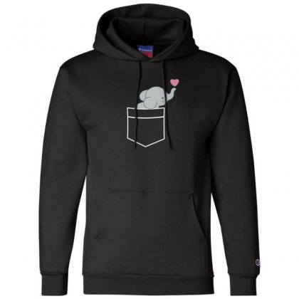 Wow An Elephant In My Pocket Champion Hoodie Designed By Andr1