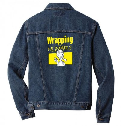Wrapping For Mummies Men Denim Jacket Designed By Andr1