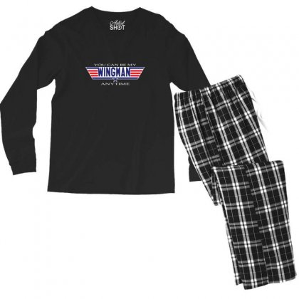 You Can Be My Wingman Anytime Men's Long Sleeve Pajama Set Designed By Andr1