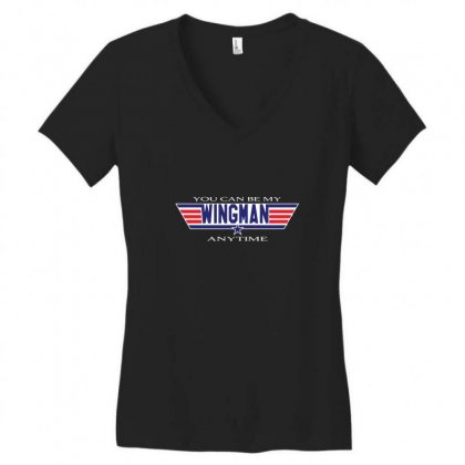 You Can Be My Wingman Anytime Women's V-neck T-shirt Designed By Andr1