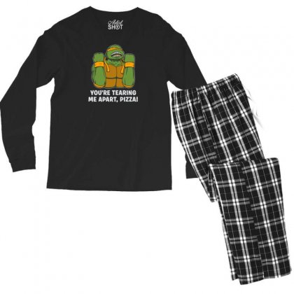 You're Tearing Me Apart Pizza Men's Long Sleeve Pajama Set Designed By Andr1
